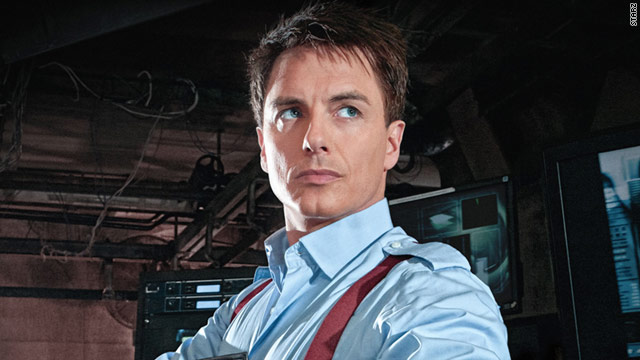 "John Barrowman reprises his role as Jack Harkness in ""Torchwood: Miracle Day."""