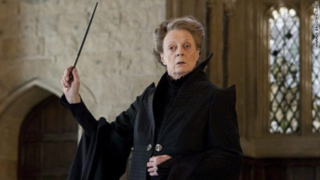 "In ""Harry Potter and the Deathly Hallows Part II,"" Maggie Smith as Professor McGonagall lets loose some exciting magic."