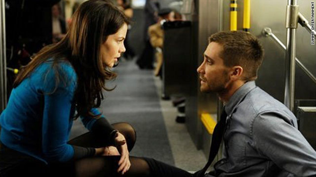 "Michelle Monaghan and Jake Gyllenhaal star in the new film ""Source Code."""