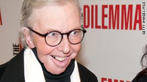 "The creators of his prosthesis ""did a pretty wonderful damn job,"" Roger Ebert says."