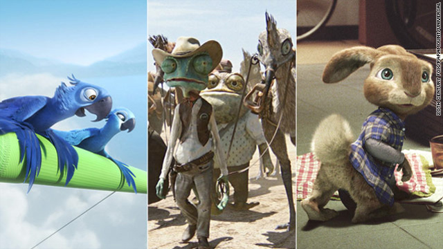 "Early 2011 animated films include ""Rio,"" the smash hit ""Rango"" and ""Hop."""