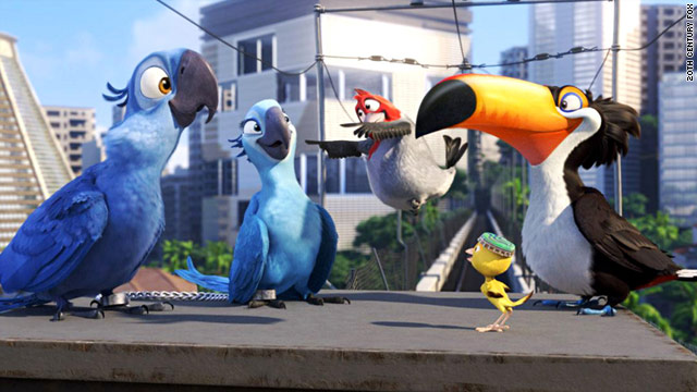 "The animated film ""Rio"" boasts an all star cast."