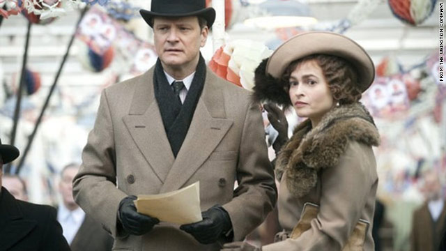 "Colin Firth and Helen Bonham Carter in the film ""The King's Speech"" which follows the story of King George VI as he struggles to overcome his stammer."