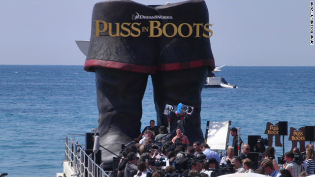 "The animated ""Puss in Boots"" gets promoted Wednesday on the French Riviera as the 64th annual Cannes Film Festival starts."