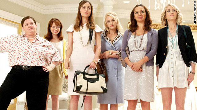 """Bridesmaids"" points out the discrepancy between what is considered ladylike and what women are really like."