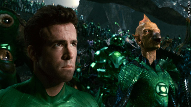 "Ryan Reynolds dons the suit and becomes ""Green Lantern"" in the new superhero film."