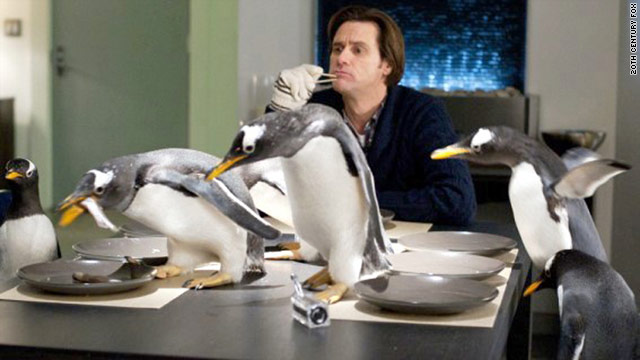 "Jim Carrey infuses Hollywood's version of beloved children's book ""Mr. Popper's Penguins"" with humor and warmth."