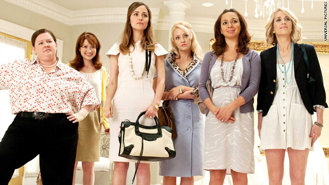 """Bridesmaids"" earns its laughs with toilet humor and scene-stealing star Melissa McCarthy (left)."