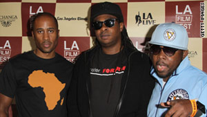 A Tribe Called Quest's Ali Shaheed Muhammad, left, Jarobi White and Phife Dawg at their documentary's premiere.