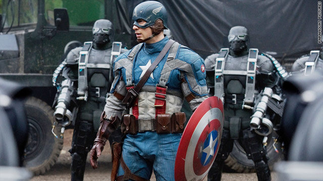 "Chris Evans stars in ""Captain America: The First Avenger."""