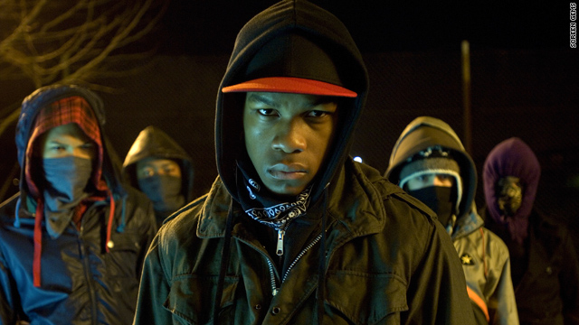 "John Boyega and the cast of ""Attack the Block"" face off against aliens in South London."
