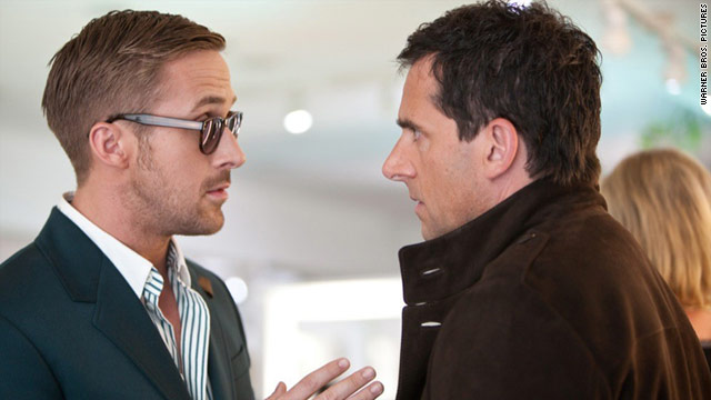 "Ryan Gosling, left, and Steve Carell are made for their roles in ""Crazy, Stupid, Love."""