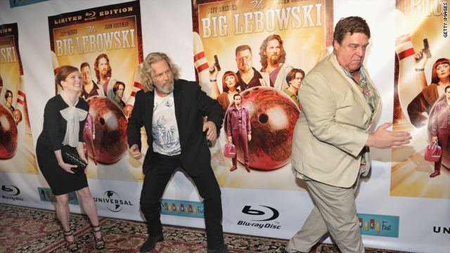 Red carpet reunion: Julianne Moore, Jeff Bridges and John Goodman celebrate Lebowski Fest and the film's Blu-ray release.