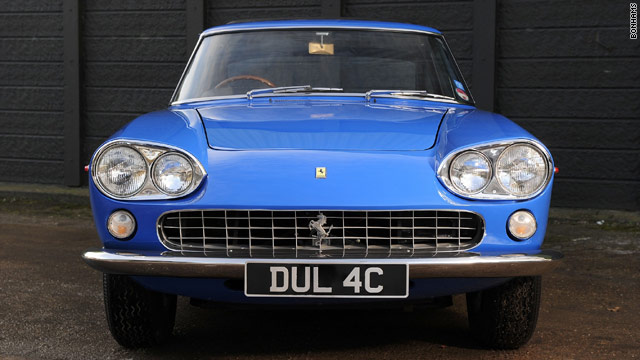 John Lennon owned the Ferrari for less than a year after passing his driving test in 1965, at the height of Beatlemania.