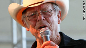Charlie Louvin is shown performing at the Stagecoach, California, Country Music Festival in May 2008.