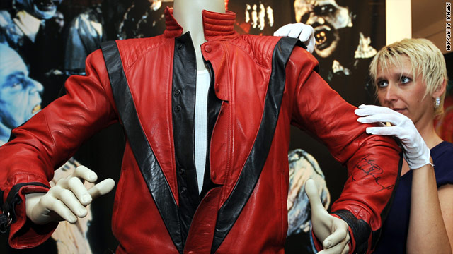 "Michael Jackson's ""Thriller"" jacket sold for $1.8 million at this weekend's Julien's auction in Beverly Hills, California."