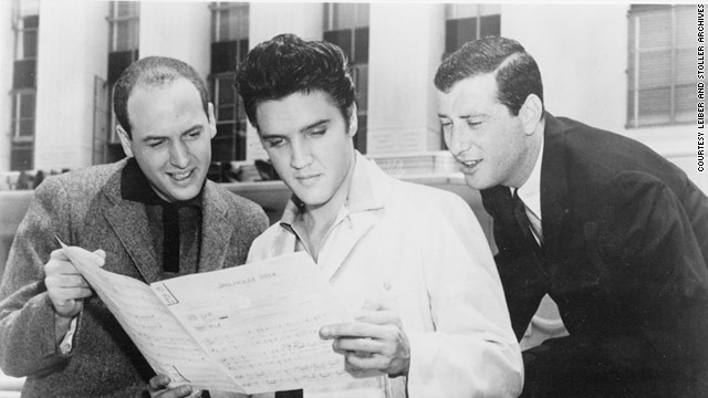 "Jerry Leiber (right), along with Mike Stoller (left), wrote jukebox favorites through the 1950s and 1960s, including ""Hound Dog."""