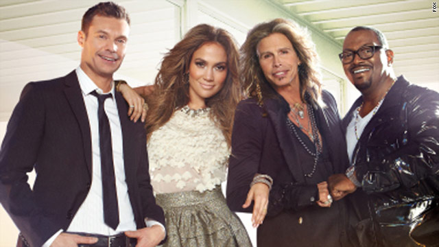 "Ryan Seacrest, left, and Randy Jackson, right, return with new judges Jennifer Lopez and Steven Tyler on ""American Idol."""