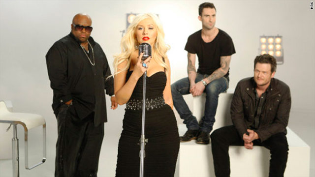 "NBC's ""The Voice"" will feature Cee Lo Green, Christina Aguilera, Adam Levine and Blake Shelton as celebrity mentors."