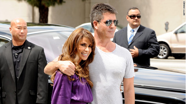 Simon Cowell and Paula Abdul -- plus L.A. Reid and Cheryl Cole, gathered to audition wannabe superstars in L.A.
