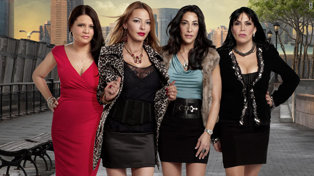 "Karen Gravano, Drita D'avanzo, Carla Facciolo and Renee Graziano star in the new VH1 series ""Mob Wives."""