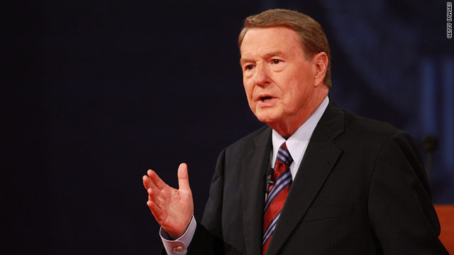 "Jim Lehrer announced that he will be leaving his position as anchor of ""PBS Newshour"" next month."