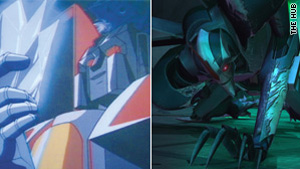 "Starscream's look has changed somewhat from the original 1980s series to today's ""Transformers Prime,"" which airs Saturdays at 7 p.m. ET on the Hub network."