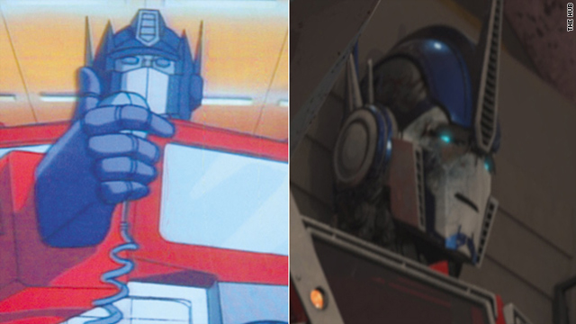 "Optimus Prime in the 1984 animated series ""Transformers,"" and in the current ""Transformers Prime."""