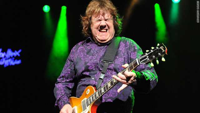 Gary Moore performs during the 44th Montreux Jazz Festival in July in Switzerland.