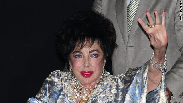 "Elizabeth Taylor has shown ""steady improvement"" since she was taken to a Los Angeles hospital last week."