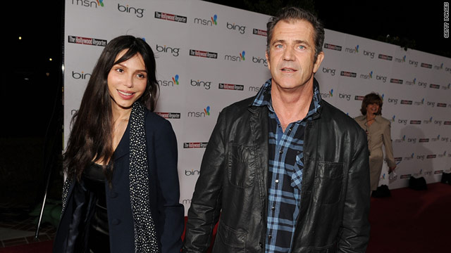 Oksana Grigorieva and Mel Gibson are seen in March 2010. They are locked in a custody fight over their 3-year-old daughter.