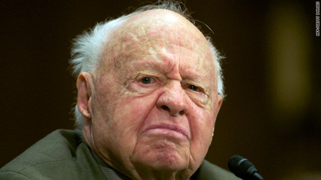 Mickey Rooney gave emotional testimony before a Senate Special Committee on Aging earlier this month.