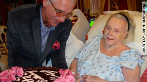 Actress Zsa Zsa Gabor's husband wants his 94-year-old wife to be a mother again.