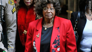 Katherine Jackson leaves a January preliminary hearing in the case of a doctor accused of causing her son's death.
