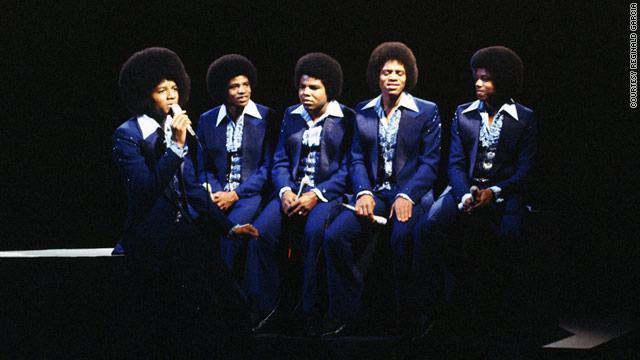 The Jackson Five perform on stage in 1978.