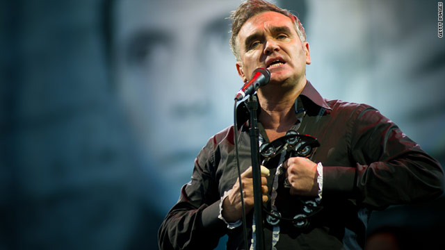 Morrissey fractured his index finger when he was attacked by a dog in England.
