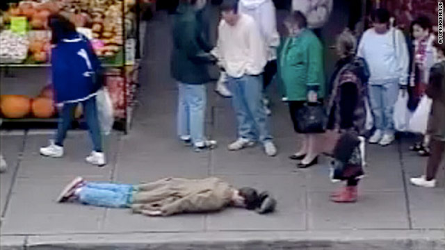 "A Youtube video shows comedian Tom Green lying on the sidewalk-- his video proof to claim ""Father of Planking."""