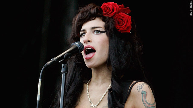 Amy Winehouse performs at the V Festival at Hylands Park in August 2008 in Chelmsford, England.