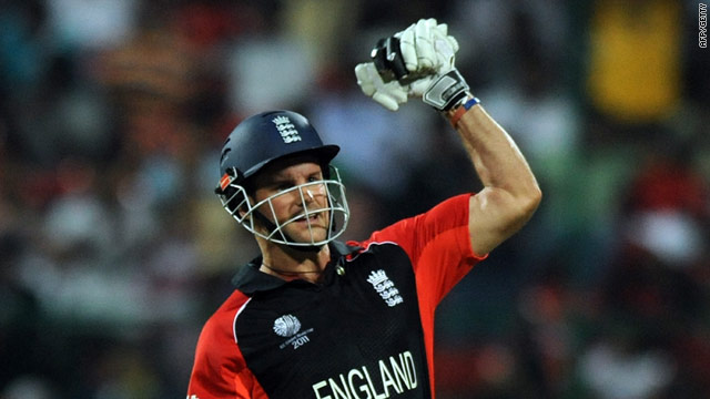 England captain Andrew Strauss was named man of the match for his superb 158 in England's run chase.