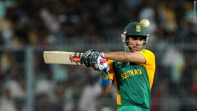 JP Duminy smashed 99 before being caught in the last over