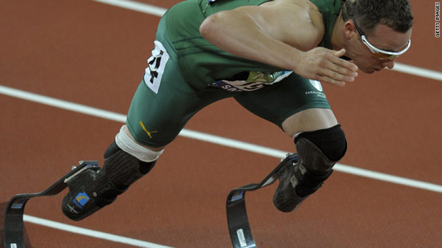 Oscar Pistorius has been dubbed the blade runner because of his prosthetic legs.