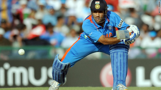 MS Dhoni has been praised for the way he has captained the Indian side in the Cricket World Cup.