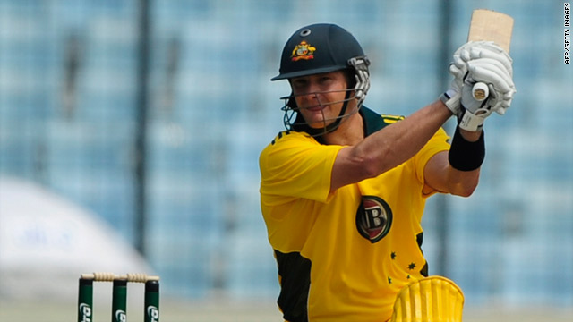 Watson beat the previous record by three as he hammered 15 sixes in Australia's one-day victory over Bangladesh.