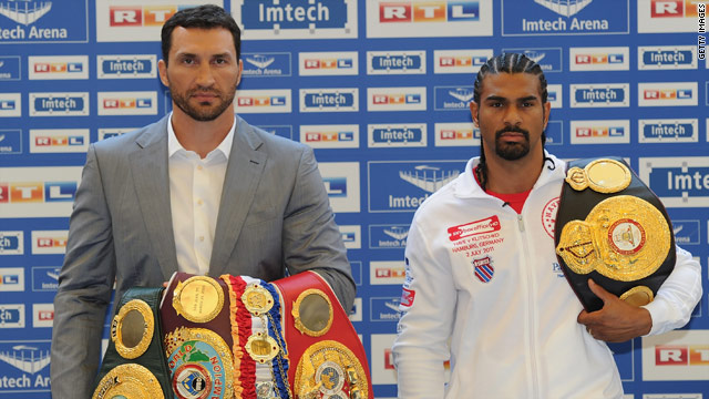 Wladimir Klitschko and David Haye will go head to head in their world heavyweight showdown in Hamburg on July 2.