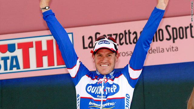 Weylandt enjoyed the biggest win of his career when victorious in the third stage of the 2010 Giro d'Italia.