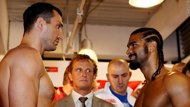 Wladimir Klitschko and David Haye go head to head in a heavyweight title unification fight.
