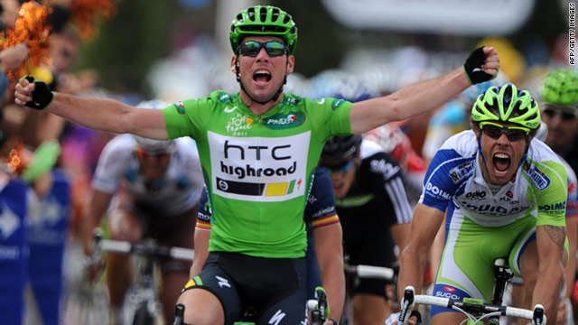 Sprint specialist Mark Cavendish is in prime position to win the Tour de France's green jersey for the first time.