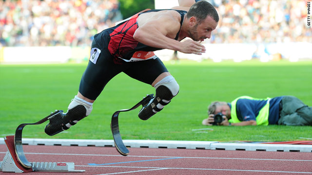 The IAAF officially allowed Pistorius to compete with able-bodied athletes in 2008.