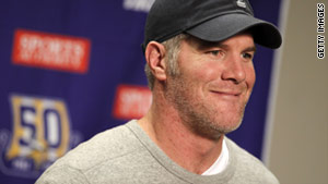 """It's been a wonderful ride for me,"" Minnesota Vikings quarterback Brett Favre said Sunday."