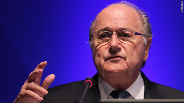 Sepp Blatter addresses a media conference in the Qatari capital of Doha. 